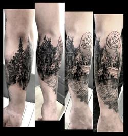 tattoo temple black corner tattoo
