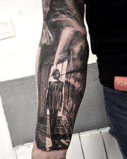 tattoo girl black corner tattoo