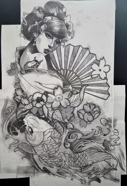sketch gaicha black corner tattoo