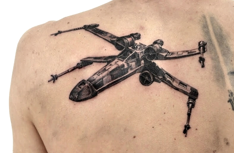 tattoo x-wing black corner tattoo