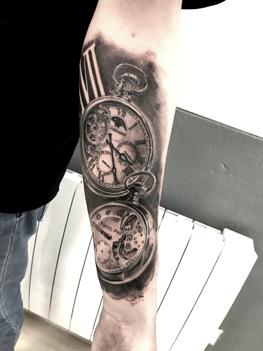 tattoo watch black corner tattoo
