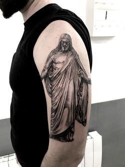 tattoo jesus black corner tattoo
