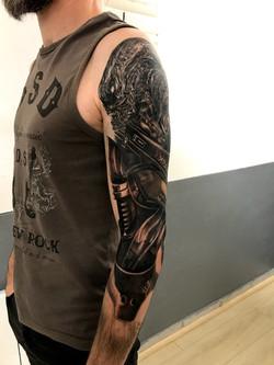 tattoo alien black corner tattoo
