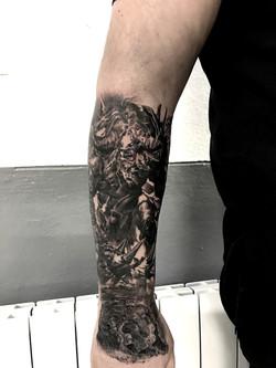 tattoo minotaure black  corner tatto