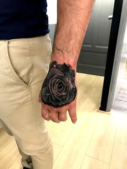 tattoo rose black corner tattoo
