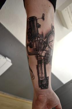 tattoo steampunk black corner tattoo