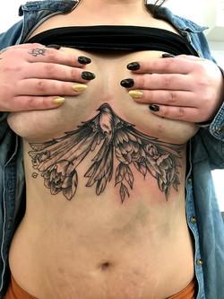tattoo bird black corner tattoo