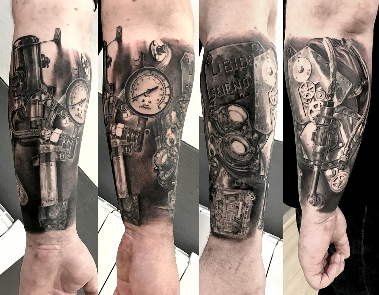tattoo steampunk black corner tattoo
