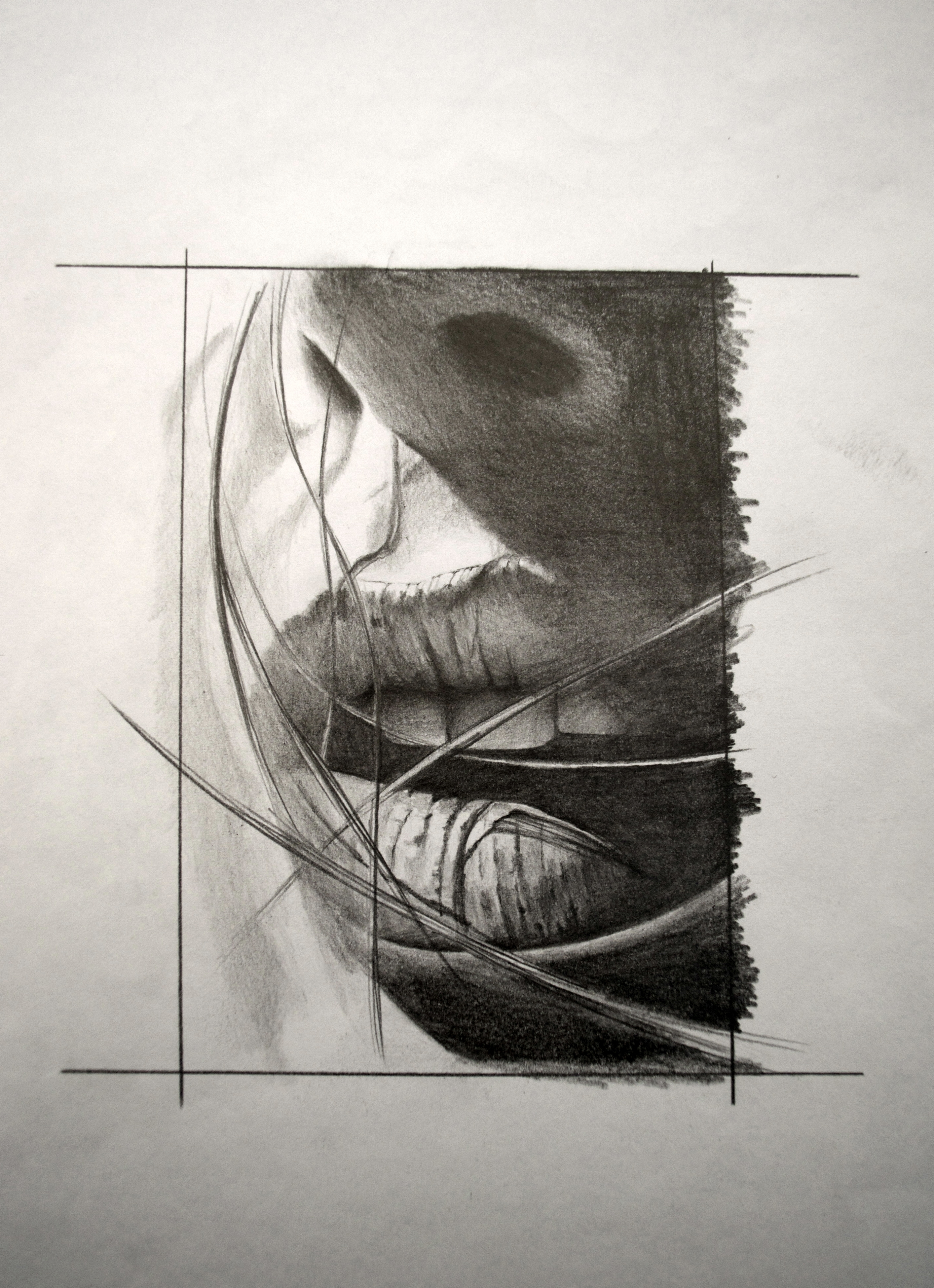 sketch femme black corner tattoo