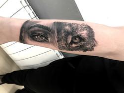 tattoo eyes black corner tattoo