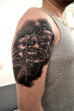 tattoo hand black corner tattoo