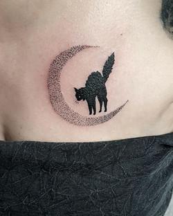 tattoo cat black corner tattoo