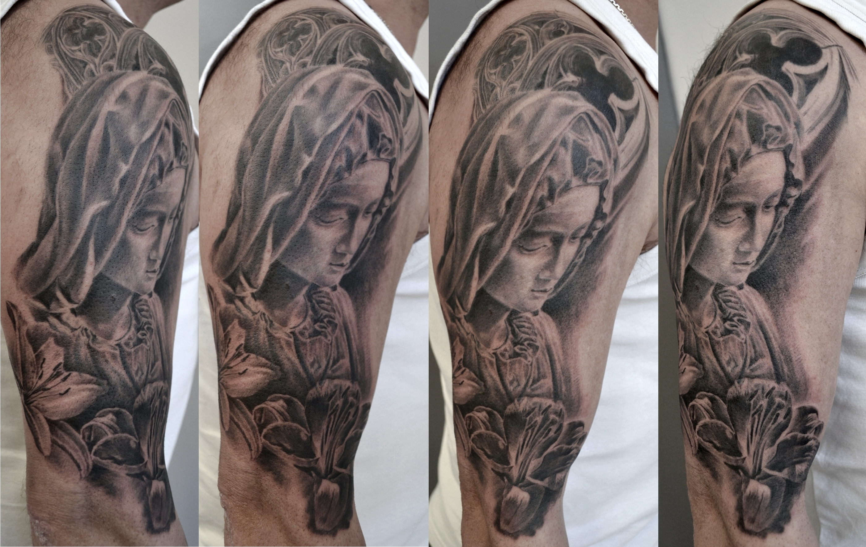 black corner tattoo,bueno,pieta