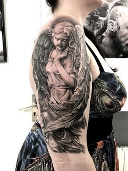 tattoo ange black corner tattoo