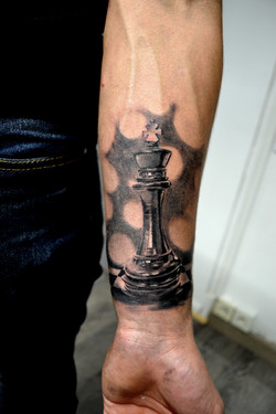 tatouage echec black corner tattoo