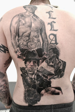 tatouage Rocky black corner tattoo