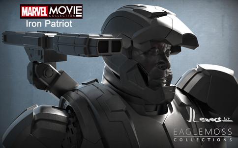 Iron Patiot gun and face