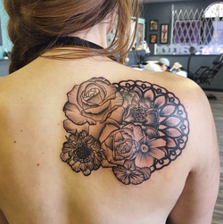 custom rose and mandala