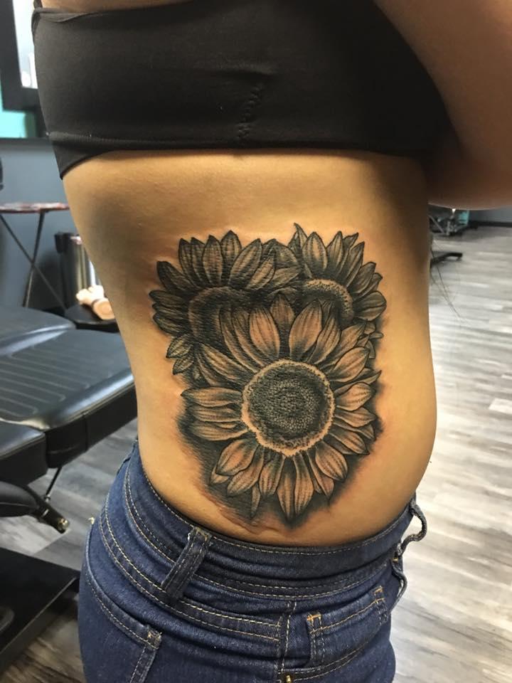 sunflowers on ribs