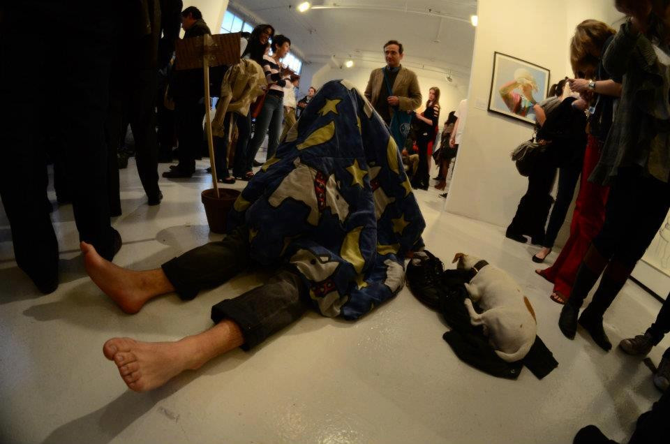 Artist MJ performs in the Rouge Space in Chelsea