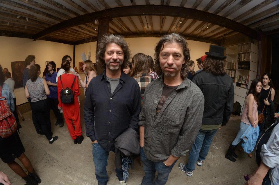 Mike and Doug Starn at the Salon 94 Freemans show