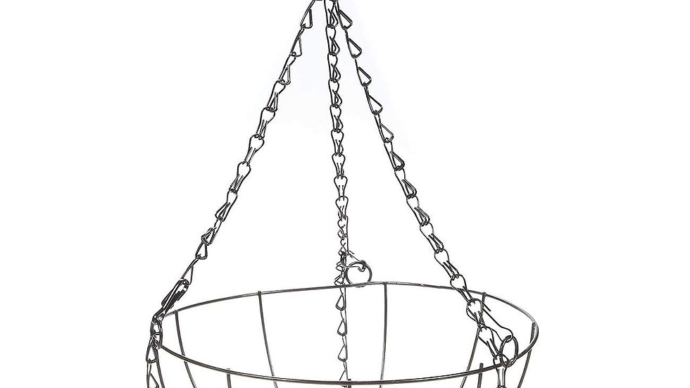 Metal Hanging Flower Pot with Coco Basket - Garden Decor