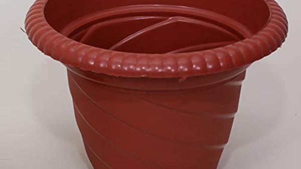 Atlantic Plastic Round Spiral Planter - Terracota
