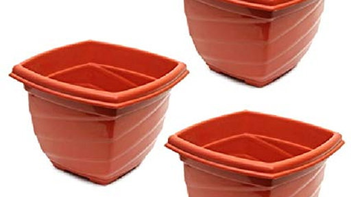 Atlantic Spiral Planter Set of 3 - Terracotta - Small Size