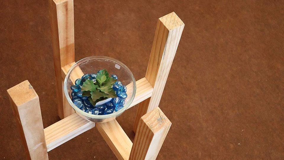 Crystal Glass Decorative Pebbles Sky Blue 1 KG