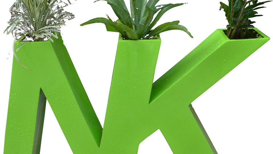 Green is Beautiful with Unique Alphabets Planter
