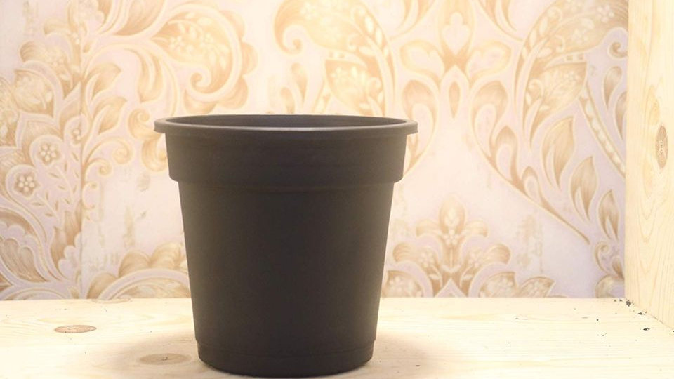 Fulwari Gardening Sabras Plastic Nursery Pots - Black Color 5 Inch - Set of 6
