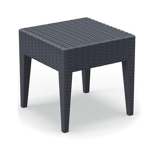 Table basse carrée tressée