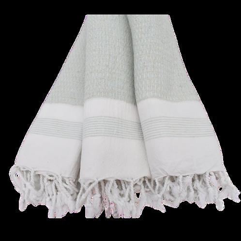 woven turkish towel mint