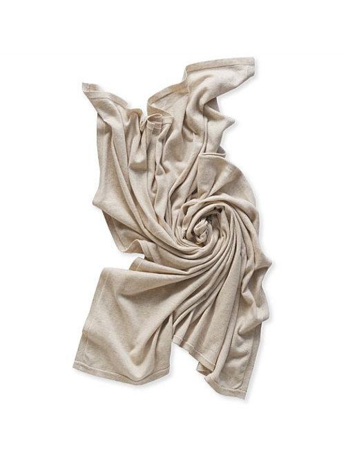 Jersey Knit Swaddle Oat Marle