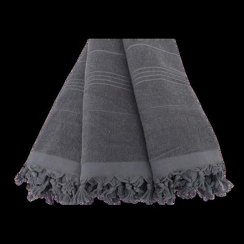 charcoal terry tassel towel