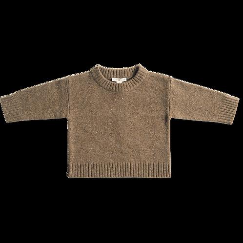 Speckled merino pullover - Coffee