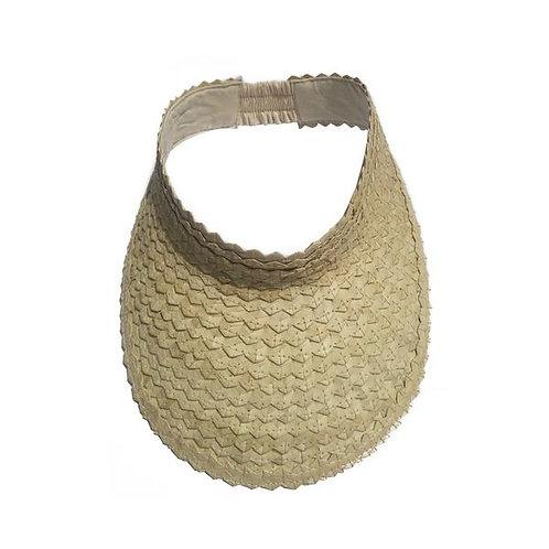natural palm leaf visor