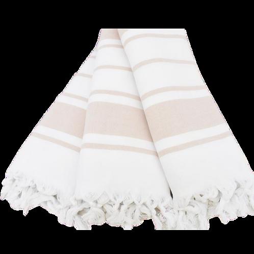 blush striped terry turkish towel