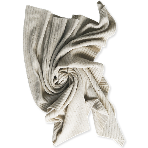 Speckled Merino baby blanket - Snow