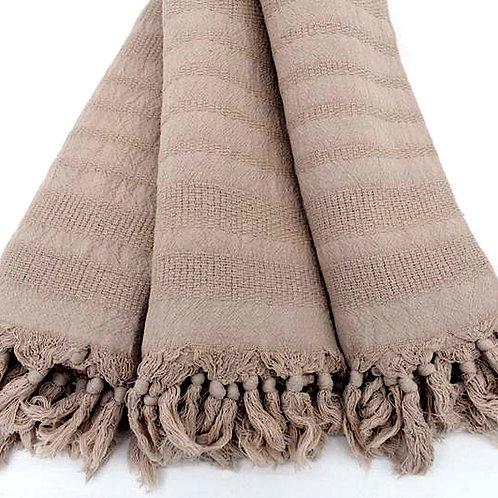 dusty nude turkish towel