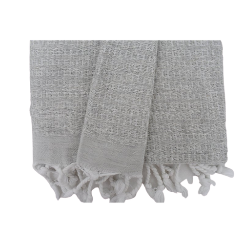 grey woven turkish towel
