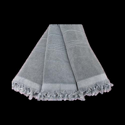 grey terry tassel towel