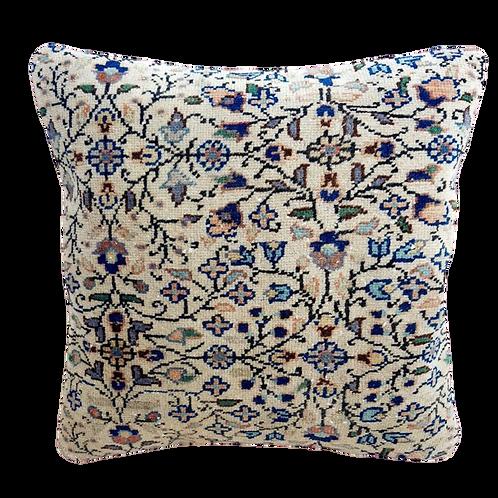 vintage kilim cushion floral