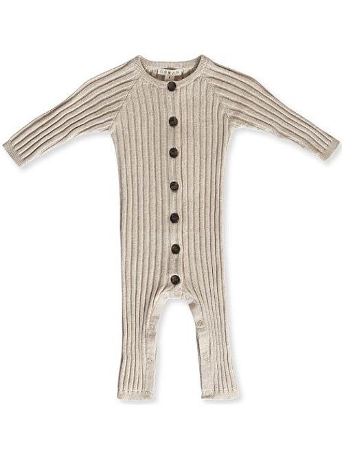 Wide rib jumpsuit - Oat Marle