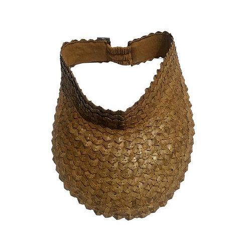 tan palm leaf visor