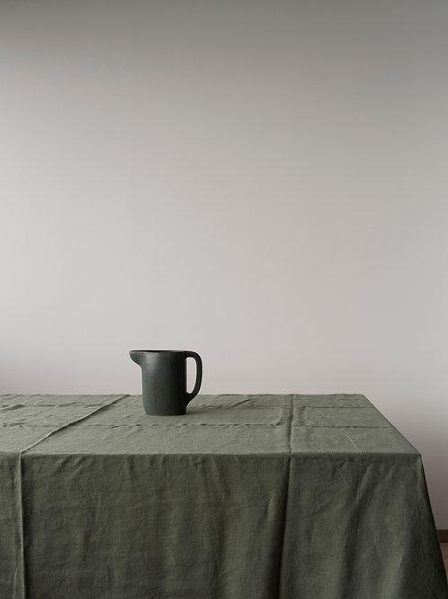 Psyrri Linen Tablecloth 240 x 145 cm, Olive Green