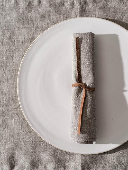 Psyrri Linen napkins 40 x  40 cm, sets of 4, Natural Linen