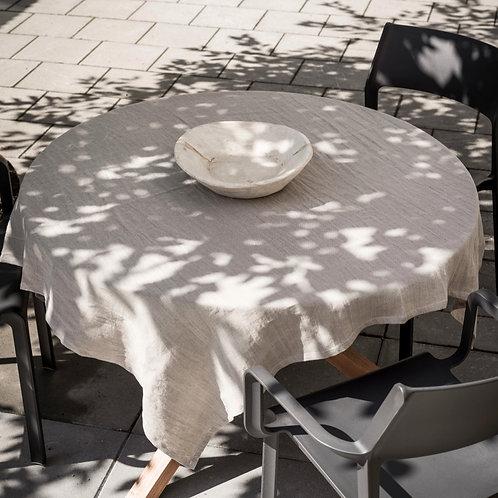Psyrri Linen Tablecloth 143 x 143 cm, Natural Linen