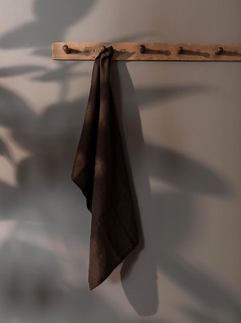 Psyrri Linen Kitchen Towel, Brown