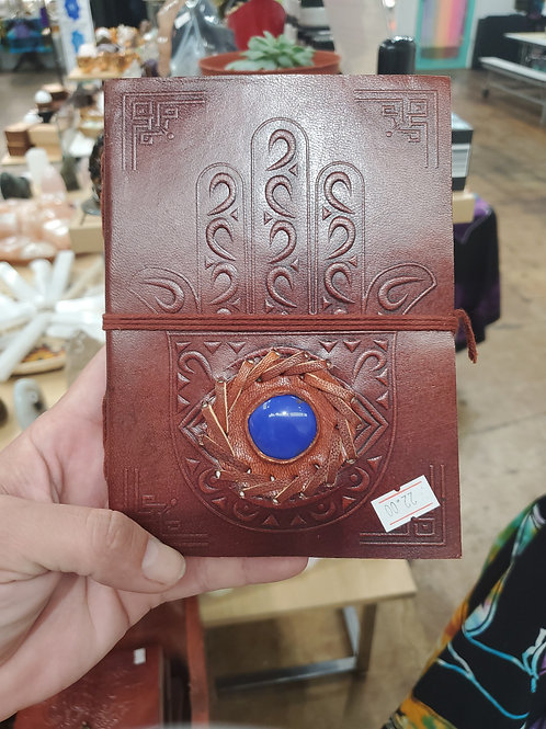 Hamsa Protection Leather Journal